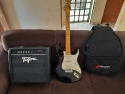 Guitarra tagima e amplificador tagima