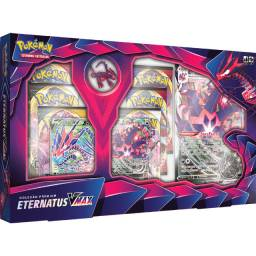 Promoção Box Premium Pokémon Eternatus Vmax Tcg Cards Estampas Ilustradas
