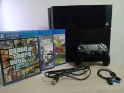 PS4 Fat 500gb + 3 Jogos