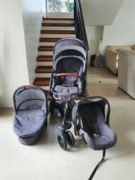 Carrinho ABC Design modelo 3 tec (com moises e bebê conforto)