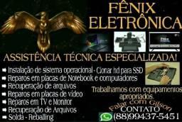 Título do anúncio: Consertos de placas de notebook, vídeo-games, tvs, macbook, desktops, monitores.