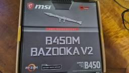 Placa Mãe MSI B450M Bazooka V2 - AM4 - Na Garantia