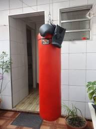 Saco de pancada Jugui 1,20 M altura - Praticamente sem uso - Luva bate-saco vai de brinde