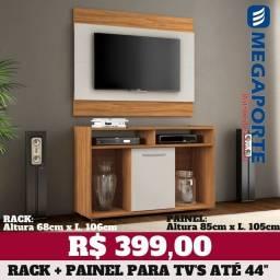 """Título do anúncio: Painel com Rack para TV até 44"""" (Novo) Entrega Grátis!"""