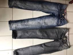 5 calças por 35 reais