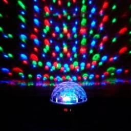 Luminaria Abajur Rotativa Projetor Globo Estrela Criança