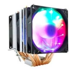 CPU Cooler com LED  Multicolorido com 3 Fan 4Pin PWM