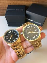 Relógios Orient Linha Banhado a Ouro Novos