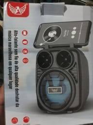 Título do anúncio: Mini caixinha Bluetooth,usb e entrada pra cartão de memória