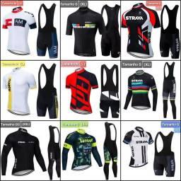 Título do anúncio: Uniformes ciclismo camisa ou só bretelle novos lacrados.