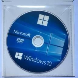 DVD De Formatação Windows 10 Todas Edições + Serial - Entrego