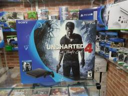 Playstation 4 slim 500gb com jogo uncharted 4,novo(leia o anúncio)
