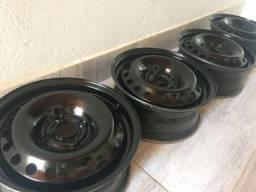 Rodas de ferro 15, 4 furos