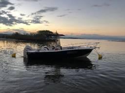 Lancha Barco Fishing 21 pés - Pesca mar aberto ou de passeio - SC - 1997