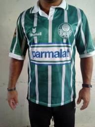 22bcf26da7 Camisa Palmeiras Verdão Clássica - Parmalat - 1993 - Retrô - 1º Linha