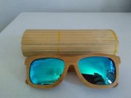 9cd78ff33ba Óculos de sol estilo bambu lente polarizada