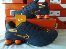 af69f3a4e4c VÁRIOS  Tênis Nike Shox NZ Marinho Laranja