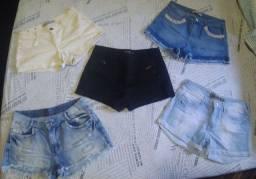 Shorts Jeans 25R$ CADA