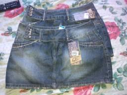 Saia jeans novos tamanho 40