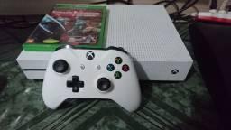 Xbox one s com jogos parcelo no cartão pego trocas no negócio