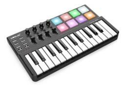 Sintetizador worlde Panda Mini Portátil Teclado USB com 25 Teclas e Controlador MIDI