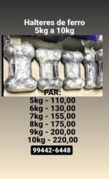 Halteres 5 a 10kg comprar usado  Brasilia