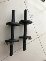Halteres com anilhas de 4kg comprar usado  São Paulo