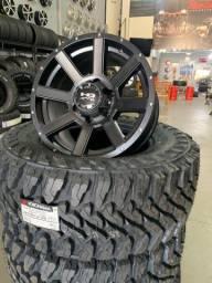 Rodas Hd Off-Road 17x9 6x139 + pneus Yokohama 33/12,5/17 MT