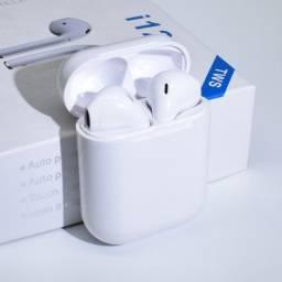 Fone De Ouvido Bluetooth i12 Tws Sem Fio Versão Touch Sensível ao Toque Novo