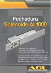 Fechadura Trava Elétrica Solenoide Agl Portão Al1001 12volts