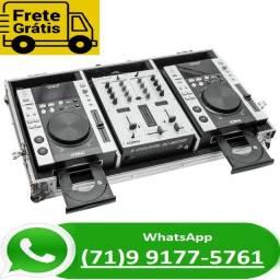 Par Cdj Profissional Lelong Le-931d Com Mixer E Case Top (NOVO)