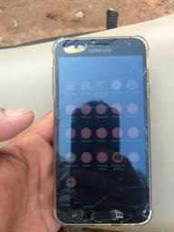 Samsung j4 32gigas funcionando ok apenas trincado mas não interfere em nada