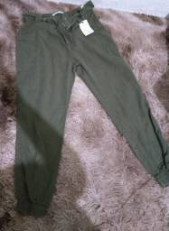 Calça Jogger verde militar tamanho 44