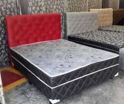 cama box de casal com colchão acoplado