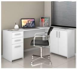 Mesa escritorio office 2 gavetas 3 portas