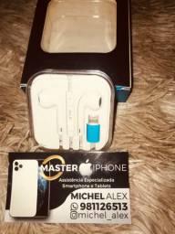Fone de ouvido iPhone 7. 8 11