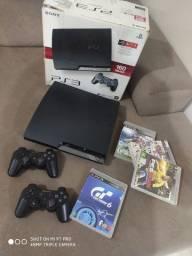 Vendo PS3 slim com 2 controle e 5 jogos play na caixa