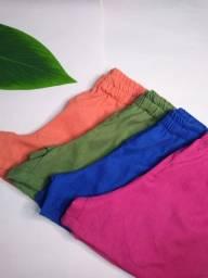 Kit com 10 shorts de linho