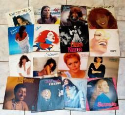 Lote 16 LPs Cantoras MPB - Clara Nunes, Leci Brandão, Simone, Beth Carvalho, Marina etc