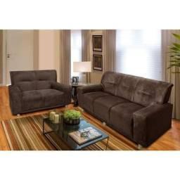 Jogo de sofá marrom Novo embalado Entrego promoção