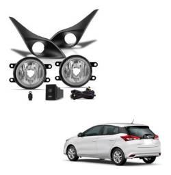 Kit Farol Milha Neblina Toyota Yaris Completo