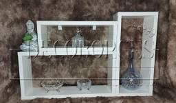 Kit nicho 3 peças MDF - Branco - Excelente acabamento - R$ 55,00