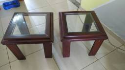 Mesa de centro e mesas laterais madeira(oportunidade)