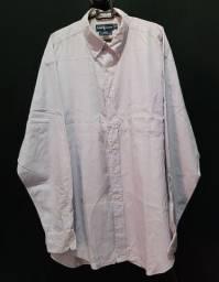 Camisa Ralph Lauren XL azul com bolso.