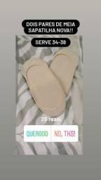 Dois pares de meia sapatilha NOVA