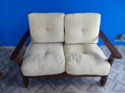 Conjunto de sofá de madeira