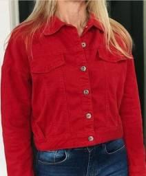 Jaqueta jeans Morena Rosa, nova, com etiqueta, tamanho P