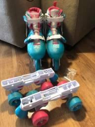 Patins Roller Derby edição limitada 2 em 1