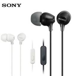 Fone de Ouvido Sony® Original Intra-Auricular Preto/Branco/Rosa MDR-EX15LP, aceito cartão