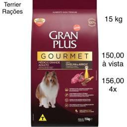 Ração GranPlus Gourmet Ovelha e Arroz Raças Médias e Grandes 15 kg